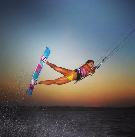 Marie DN kitesurfeuse compte instagram de rideuses à suivre