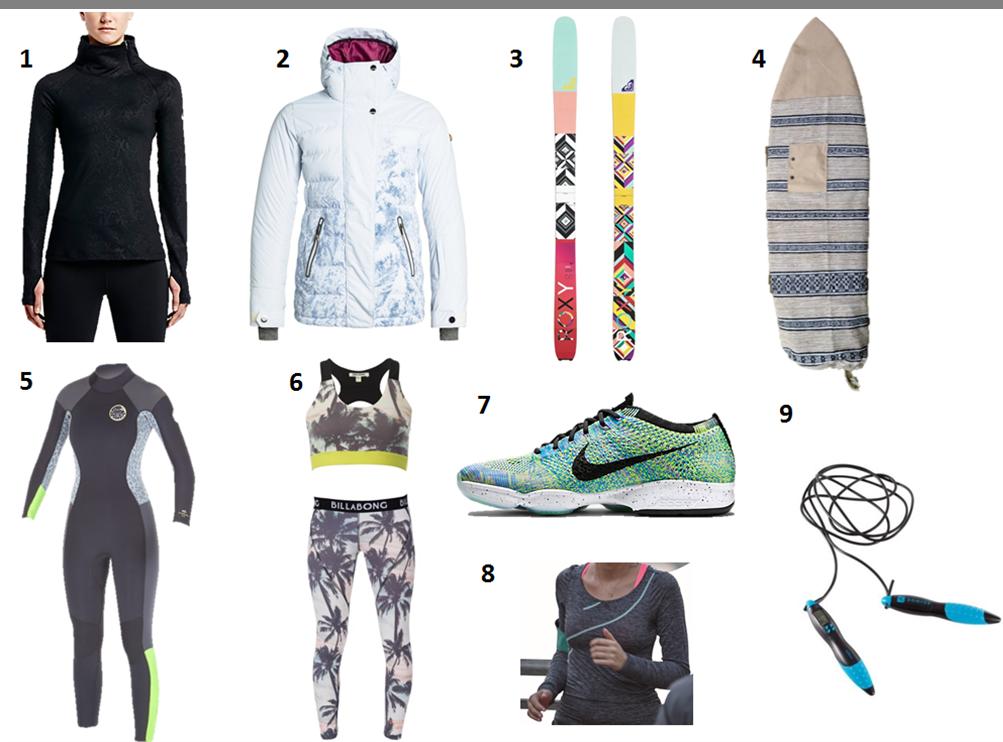 cadeaux training, surf et snow santamila