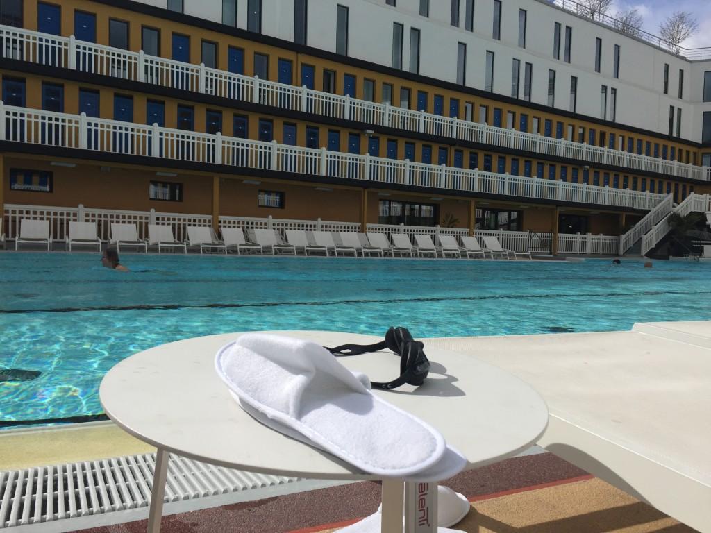 Piscine Molitor session natation avec Yannick AGnel