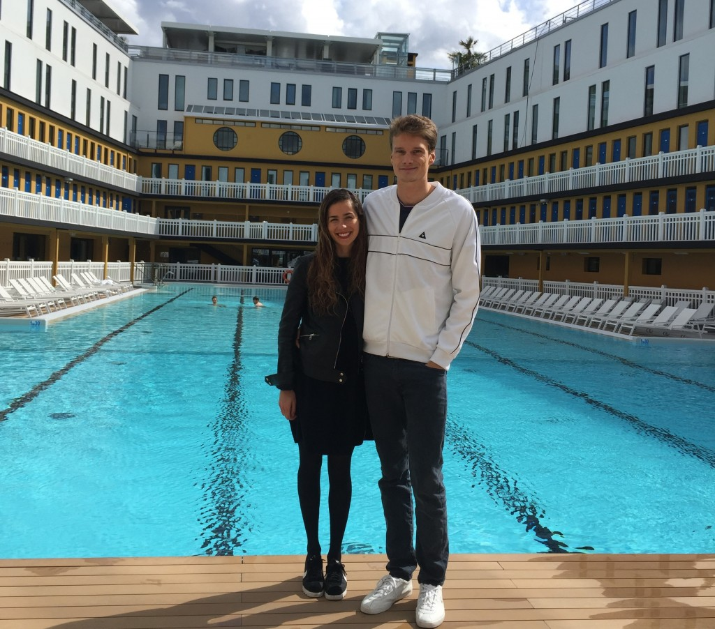 Session Natation avec Yannick Agnel à la piscine molitor