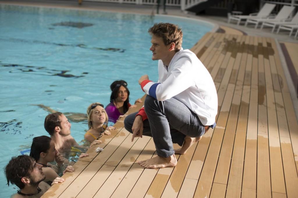 Session natation avec le sportif Yannick Agnel