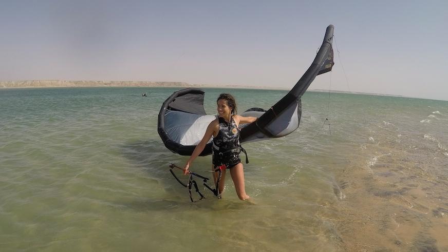 kitesurf et yoga Dakhla voyage sportif entre filles 11