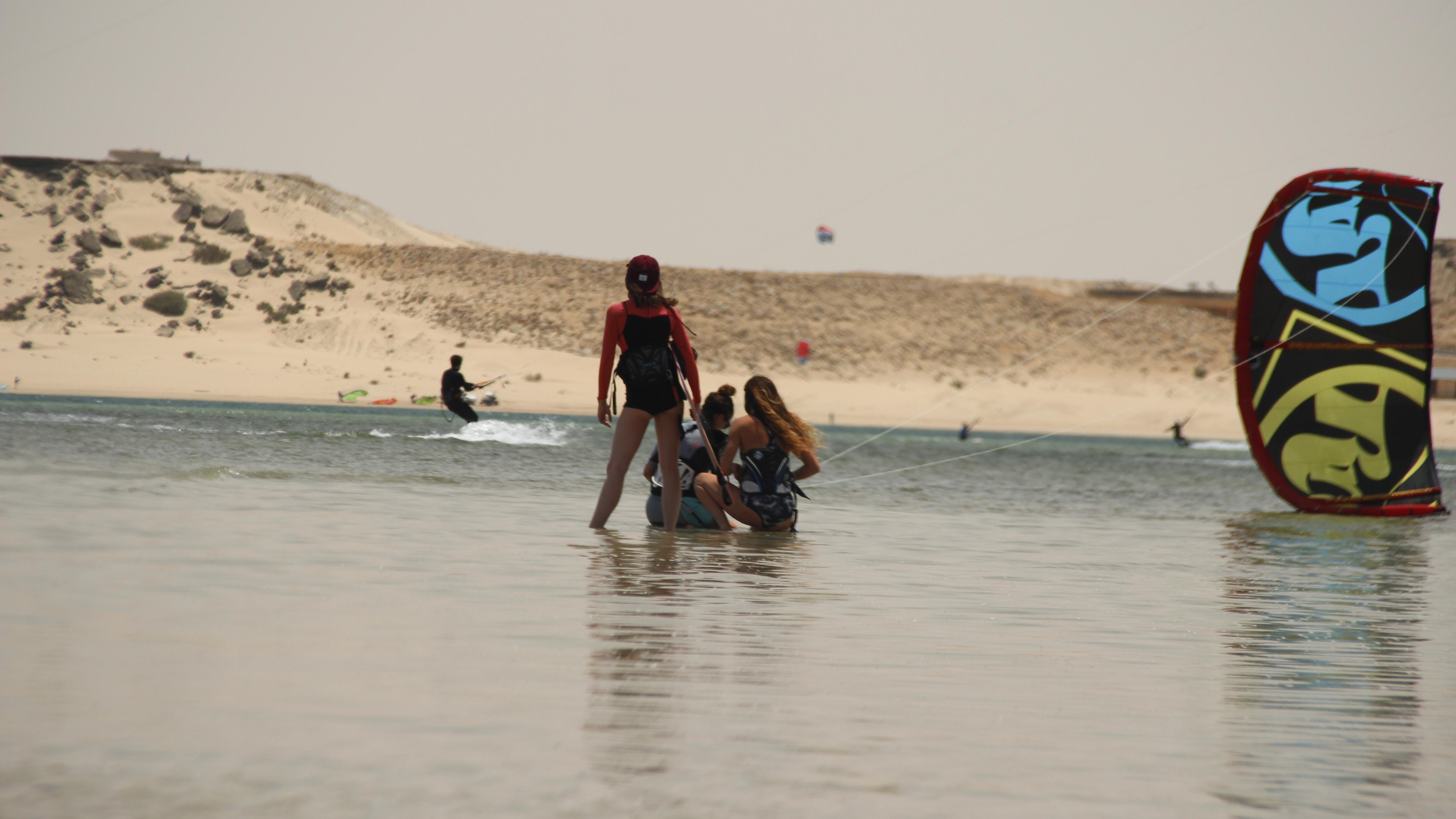 kitesurf et yoga Dakhla voyage sportif entre filles 5