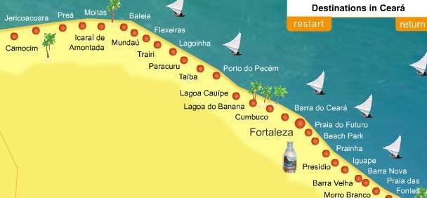 Carte Du Bresil Nordeste.Kitesurf Trip Au Bresil Sport Soleil