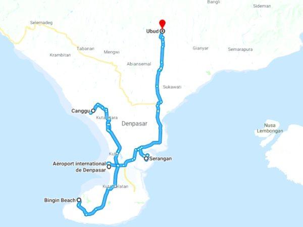 Itineraire voyage partir en vacances a bali 15 jours