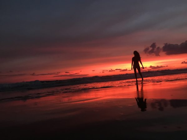 sunset canggu vacances a Bali