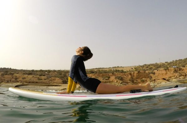 SUP Yoga SantaMila tarifa van roadtrip malaga break