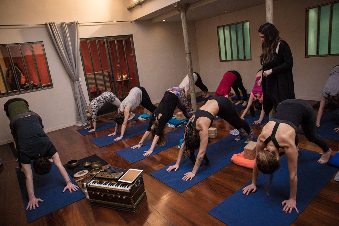 cours de Yoga Yin au centre Caelo Yoga Paris