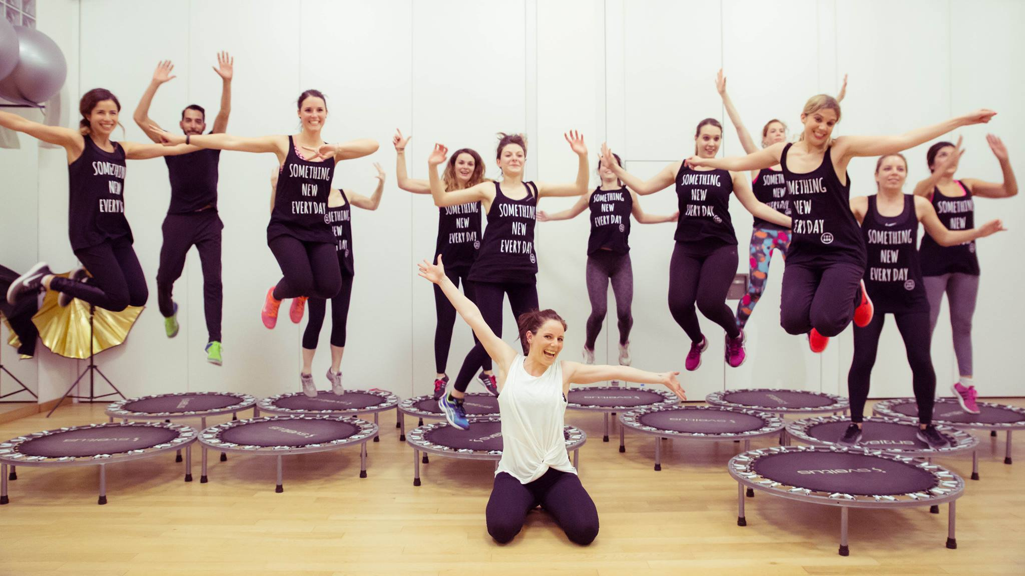 UBound Fitness sur trampoline à Paris