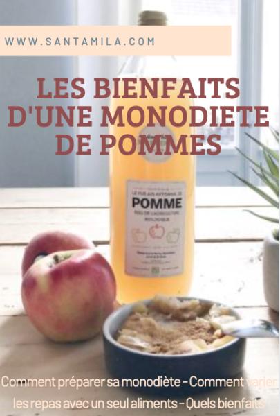 les bienfaits monodiete pommes santamila