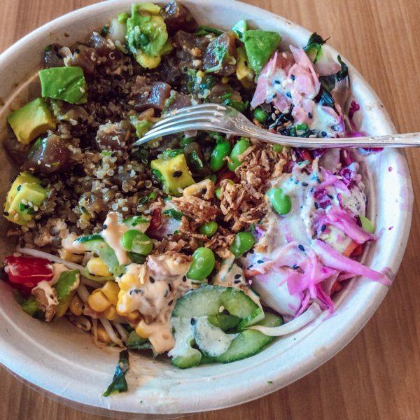Louvines poke bowl Hossegor restaurant healthy