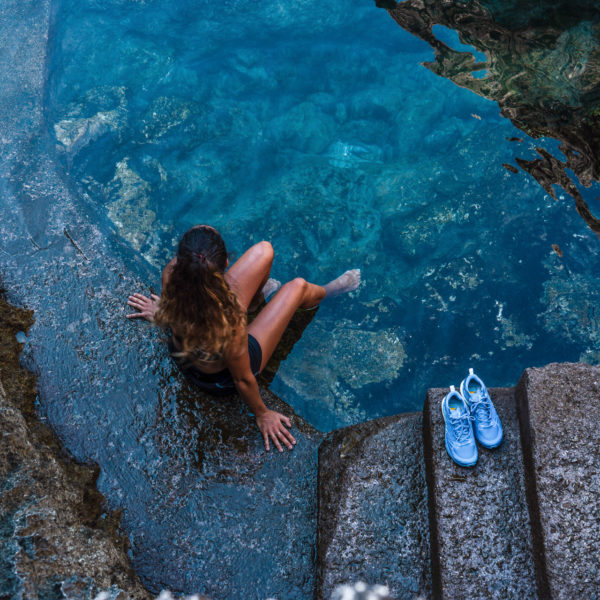 Piscine naturelle sur la randonnée Sentiero di Fortini