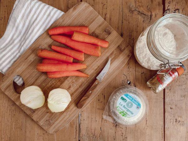Recette tarte maison carottes chevre et cumin by SantaMila 1