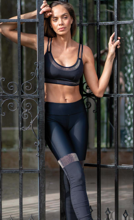 Tenue de Yoga Lyeva black shine