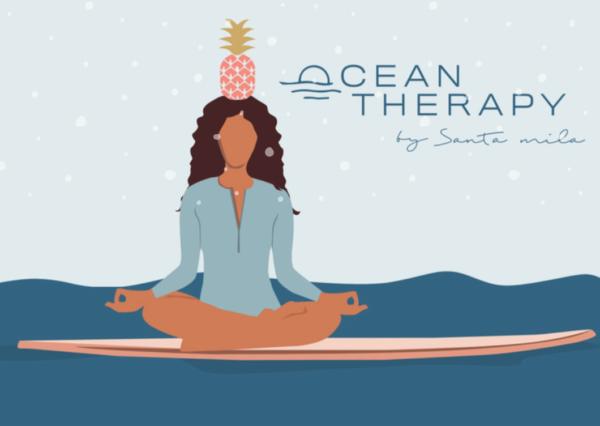 Carte cadeau de Noël cours de yoga et Ocean Therapy