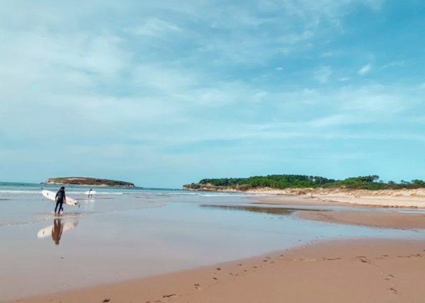 vacances en Cantabrie en Espagne plage de Somo